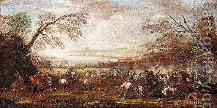 Battle by (after) Pietro Graziani - Reproduction Oil Painting