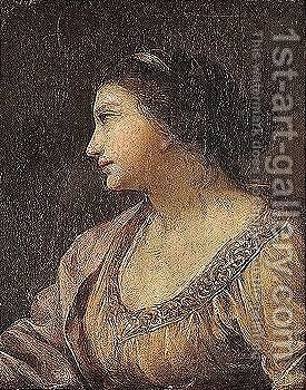 Portrait of a lady by (after) Simon Vouet - Reproduction Oil Painting