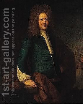 Portrait of a gentleman 5 by (after) Kneller, Sir Godfrey - Reproduction Oil Painting