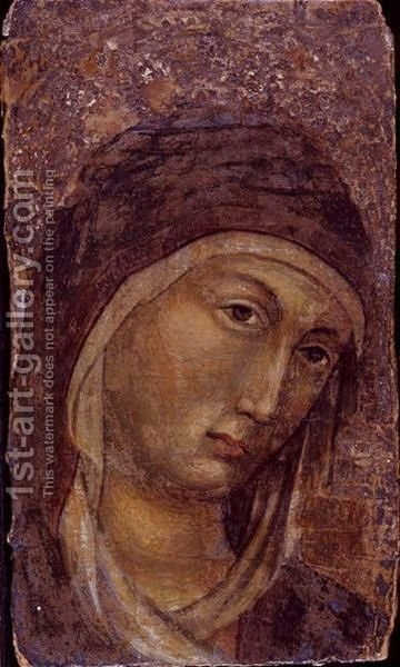 Head of the madonna by (after) Duccio Di Buoninsegna - Reproduction Oil Painting
