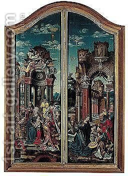 Altarpiece Inner And Outer Wings, Framed Together by - Unknown Painter - Reproduction Oil Painting