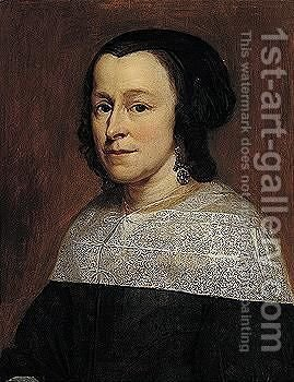 Portrait of a lady by Amsterdam School - Reproduction Oil Painting