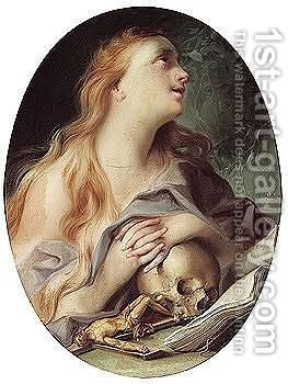 The Penitent Magdalene by (after) Ignazio Stella (see Stern Ignaz) - Reproduction Oil Painting