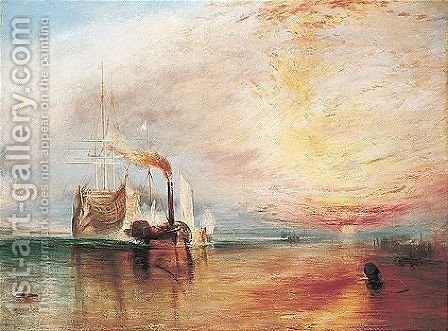 The Fighting Temeraire by (after) Joseph Mallord William Turner - Reproduction Oil Painting