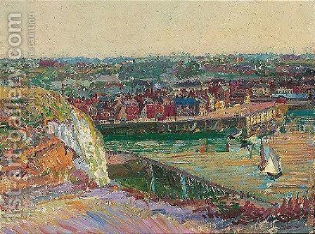 Dieppe Harbour by Harold Gilman - Reproduction Oil Painting