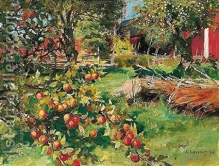 Vanhasta Hedelmatarhasta (From The Old Fruit Garden) by Albert Edelfelt - Reproduction Oil Painting