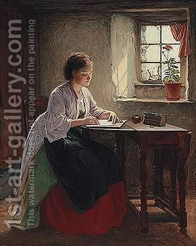 The Letter by Haynes King - Reproduction Oil Painting