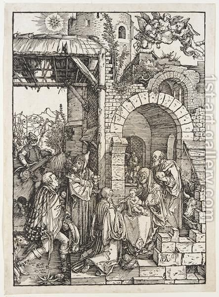 The Adoration Of The Magi 2 by Albrecht Durer - Reproduction Oil Painting