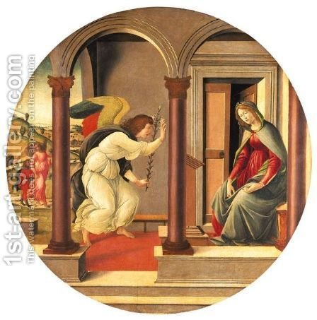 Annunciazione by (after) Sandro Botticelli (Alessandro Filipepi) - Reproduction Oil Painting