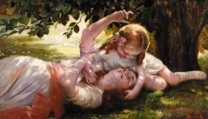 Reproduction oil paintings - Isaac Snowman - Mother And Child