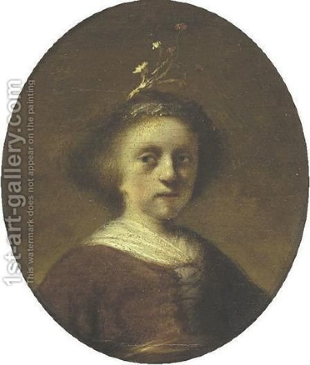 Portrait Of A Young Girl by (after) Harmenszoon Van Rijn Rembrandt - Reproduction Oil Painting