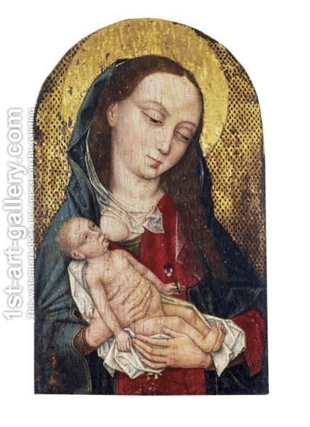 The Virgin And Child 6 by (after) Rogier Van Der Weyden - Reproduction Oil Painting