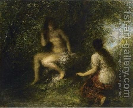 The Bathers by Ignace Henri Jean Fantin-Latour - Reproduction Oil Painting