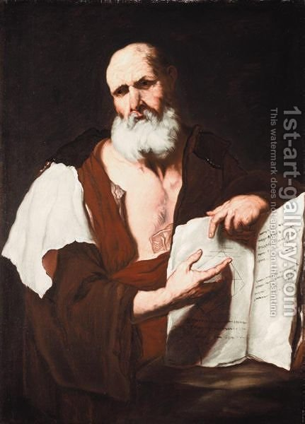 A Philosopher by (after) Luca Giordano - Reproduction Oil Painting