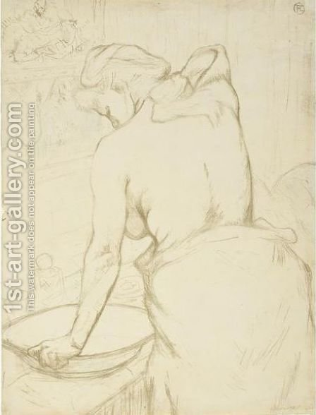 Femme Qui Se Lave by Toulouse-Lautrec - Reproduction Oil Painting