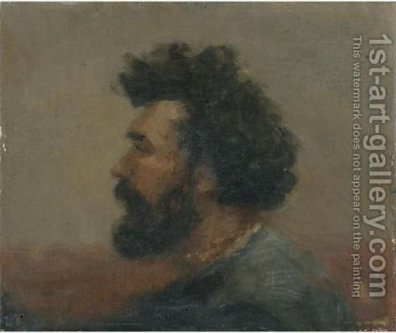 Self-Portrait by Ivan Pavlovich Pokhitonov - Reproduction Oil Painting