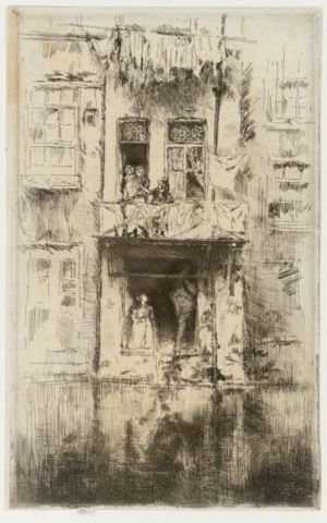 Reproduction oil paintings - James Abbott McNeill Whistler - Balcony, Amsterdam 2