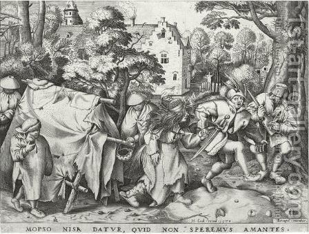 The Wedding Of Mopsus And Nisa by (after) Pieter The Elder Bruegel - Reproduction Oil Painting