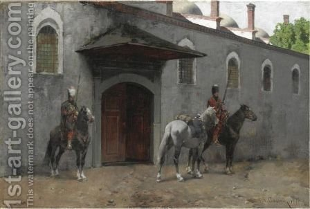 Le Cucine Del Topkapi by Alberto Pasini - Reproduction Oil Painting