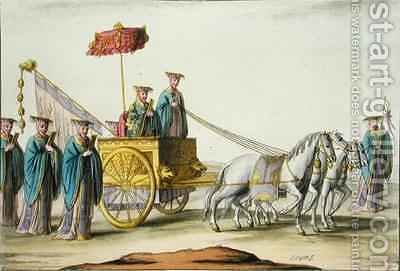 Emperor of an Antique Dynasty in his Carriage by Giovanni Bigatti - Reproduction Oil Painting