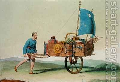 Itinerant Farmer with his Cart by Giovanni Bigatti - Reproduction Oil Painting