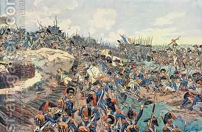 The Battle of Jemmapes by (after) Beuzon, Joseph Charles - Reproduction Oil Painting