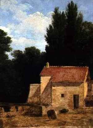 Reproduction oil paintings - Jean-Victor Bertin - Farm Building in a Landscape