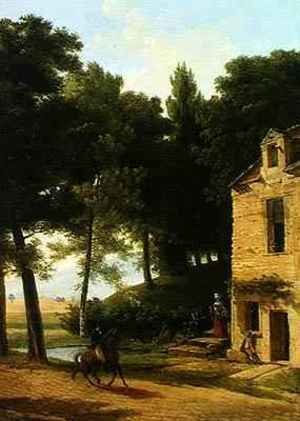 Reproduction oil paintings - Jean-Victor Bertin - Italian Landscape with a Cavalier