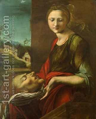 Salome with John the Baptist's Head by Alonso Berruguete - Reproduction Oil Painting