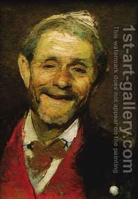 Old Man Laughing by A Beridze - Reproduction Oil Painting