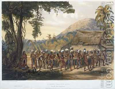 Caribi Village Anai, near the River Rupununi by (after) Bentley, Charles - Reproduction Oil Painting
