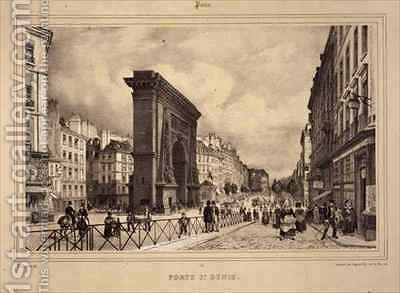 Porte St Denis by (after) Benoist, Philippe - Reproduction Oil Painting
