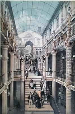 The Passage Pommeraye in Nantes by (after) Benoist, Felix - Reproduction Oil Painting