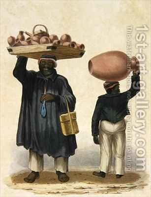 Water-jar Sellers by Isaac Mendes Belisario - Reproduction Oil Painting