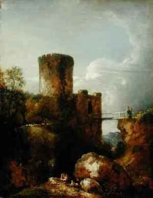 Reproduction oil paintings - Sir George Howland Beaumont - Conway Castle