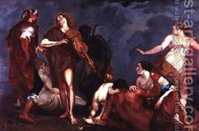 Apollo and Marsyas by Giuseppe Bazzani - Reproduction Oil Painting