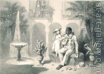 Tom and Evangeline, plate 5 from 'Uncle Tom's Cabin' by (after) Bayot, Adolphe Jean-Baptiste - Reproduction Oil Painting