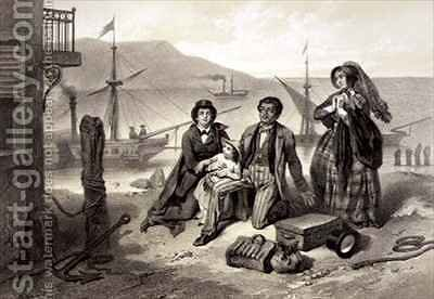 The Arrival in Canada, plate 12 from 'Uncle Tom's Cabin' by (after) Bayot, Adolphe Jean-Baptiste - Reproduction Oil Painting