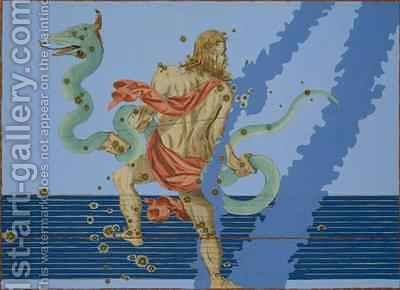 Constellation of Ophiuchus Group, from 'Uranometria' by (after) Bayer, Johann - Reproduction Oil Painting