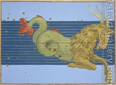 Constellation of Capricorn, from 'Uranometria' by (after) Bayer, Johann - Reproduction Oil Painting