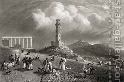 Nelson's Monument, Calton Hill, Edinburgh by (after) Batty, Lieutenant-Colonel - Reproduction Oil Painting