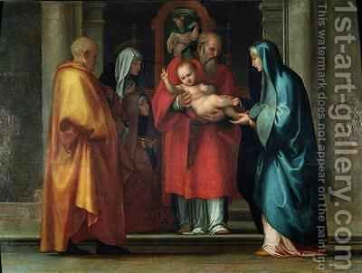 Presentation in the Temple by (after) Bartolommeo, Fra (Baccio della Porta) - Reproduction Oil Painting