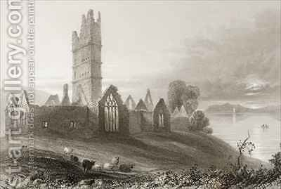 Moyne Abbey, County Mayo, Ireland by (after) Bartlett, William Henry - Reproduction Oil Painting