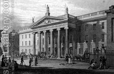 The Post Office, Dublin by (after) Bartlett, William Henry - Reproduction Oil Painting