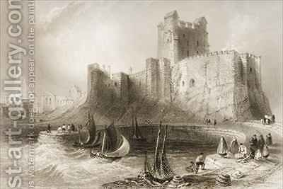 Carrickfergus Castle, County Antrim, Northern Ireland by (after) Bartlett, William Henry - Reproduction Oil Painting