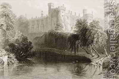 Kilkenny Castle, County Kilkenny, Ireland by (after) Bartlett, William Henry - Reproduction Oil Painting