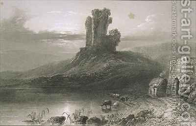 Kilcolman Castle, County Cork, Ireland by (after) Bartlett, William Henry - Reproduction Oil Painting