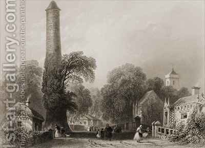 Clondalkin, County Dublin, Ireland by (after) Bartlett, William Henry - Reproduction Oil Painting