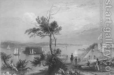 The Narrows from Fort Hamilton by (after) Bartlett, William Henry - Reproduction Oil Painting
