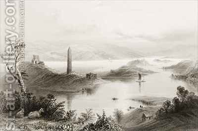 Devenish Island, County Fermanagh, Ireland by (after) Bartlett, William Henry - Reproduction Oil Painting